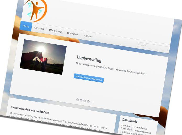 Screenshot website Social Care