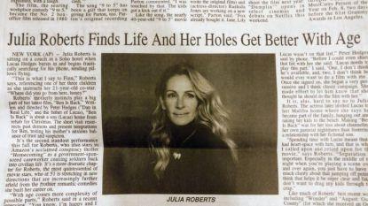 Oeps: typefoutje maakt artikel over Julia Roberts wel heel seksistisch