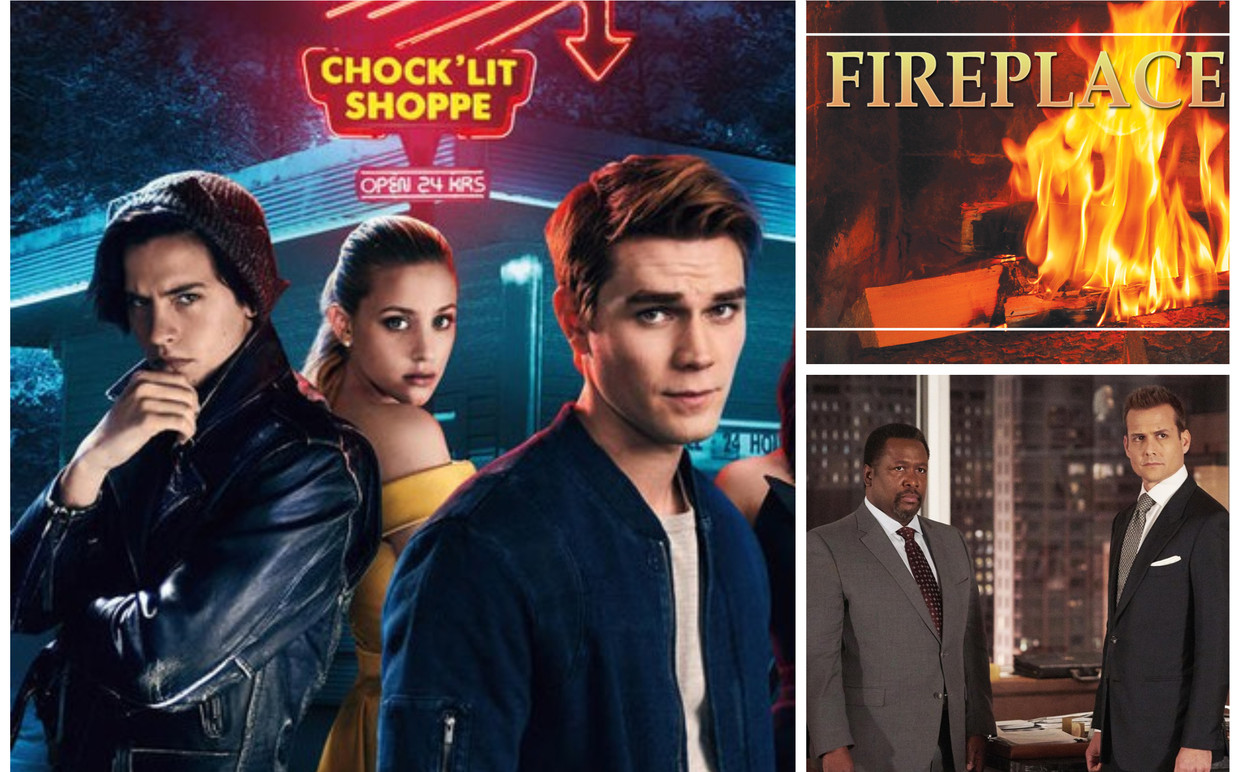 'Riverdale', 'Fireplace for your Home' en 'Suits' Beeld Netflix