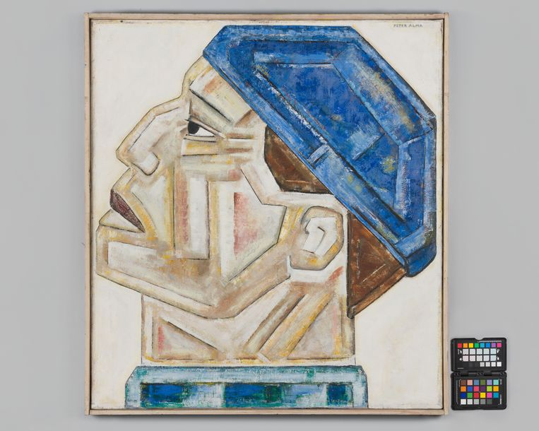 Peter Alma, 'Havenarbeider', (1924), te zien in Arnhem. Beeld RV