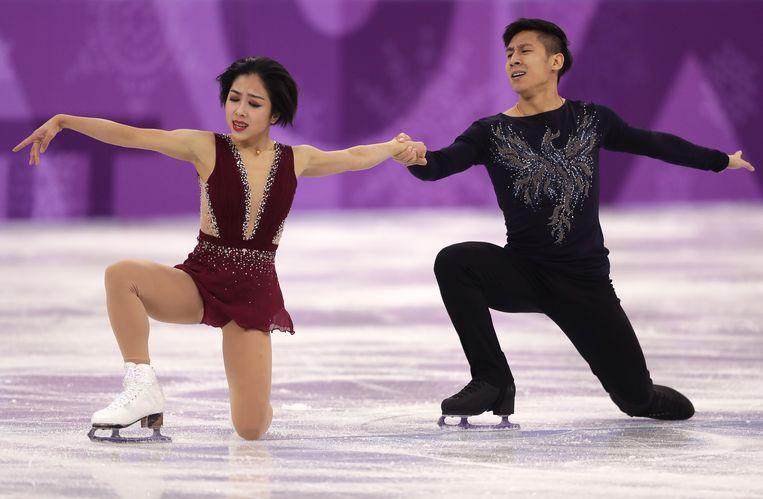 Sui Wenjing en Han Cong werden door Lenting getraind. Beeld Getty Images