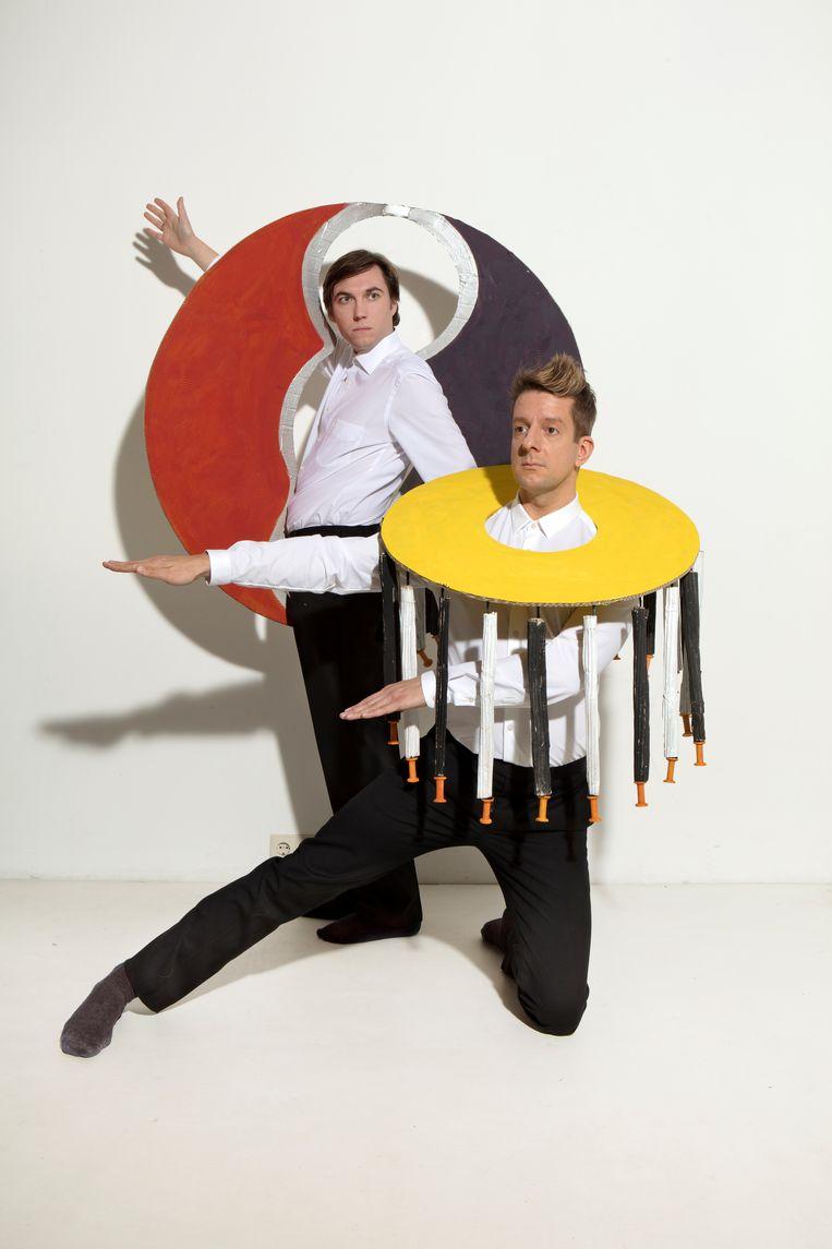 Alex Klaasen en Steef de Jong in De Modern Art Revue Beeld RV