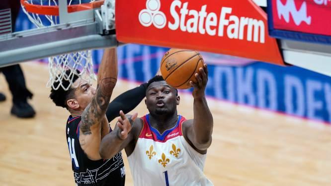Zion Williamson leidt New Orleans naar zege tegen Philadelphia, ook Tatum en LaVine goed bij schot
