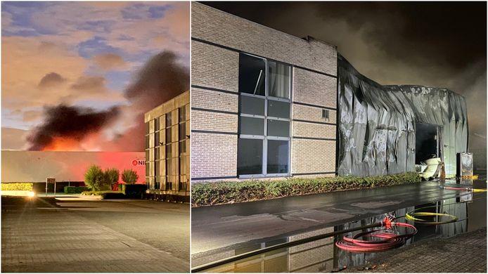 MECHELEN - Op het bedrijventerrein van farmaceutisch bedrijf Biocartis brak vrijdagavond een zware brand.