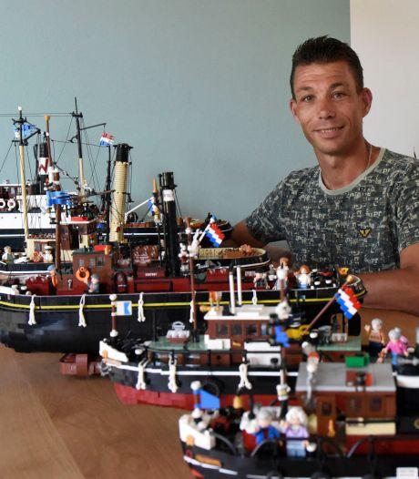 Tot in de kleinste details bouwt Jebbo (41) met Lego schepen na, maar nu even niet: 'Mag niet van mijn vrouw'