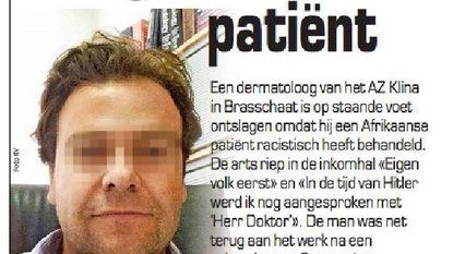 'Racistische' dokter riskeert 10 maanden cel: hij dreigde met aanslag in Klina-ziekenhuis