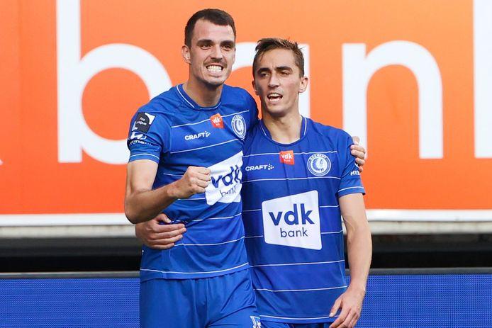 Lemajic en De Sart, de doelpuntenmakers bij AA Gent.