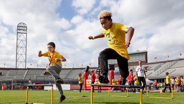 De Johan Cruyff Foundation biedt sport voor alle jongeren en zorgt zo voor binding met de samenleving Beeld Berlinda van Dam/HH