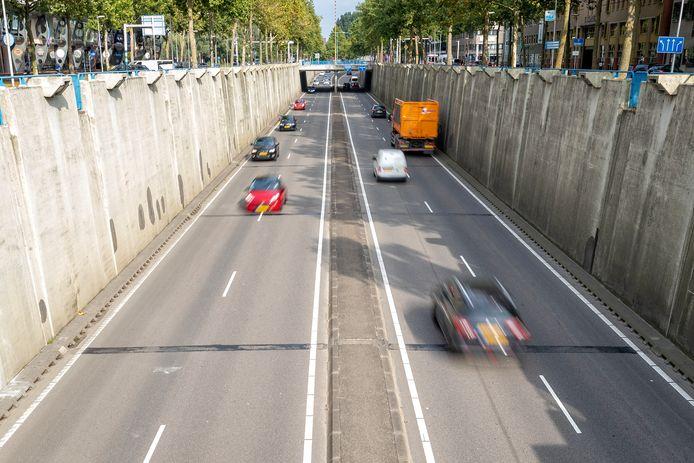 De veelbesproken tunnelbak aan de Europaweg.
