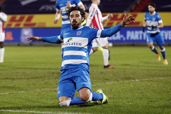 De man van de wedstrijd in Tilburg: PEC-invaller Reza Ghoochannejhad.