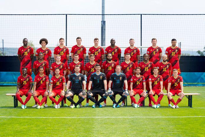 De 26 spelers die Martínez selecteerde voor het EK.