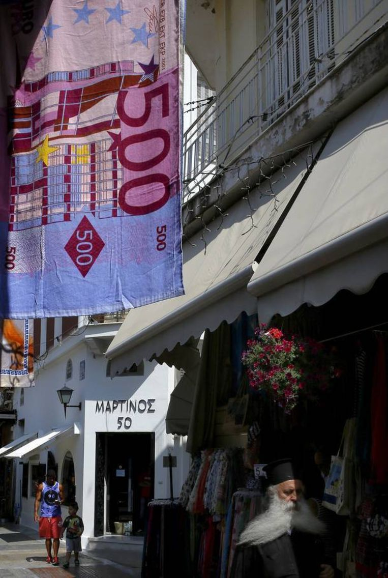 Een vlooienmarkt in Athene. Beeld REUTERS