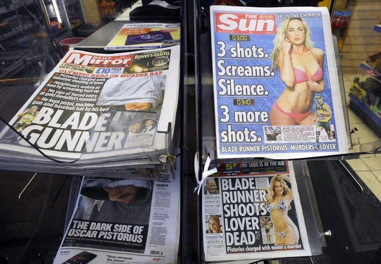 De voorpagina's van Britse kranten gisteren. Beeld epa