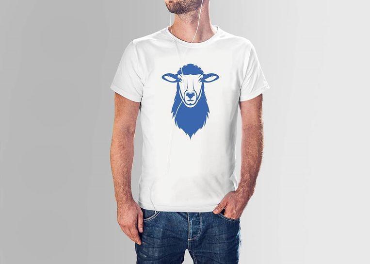 Een van de leuke t-shirts met het schaap van Tienen.
