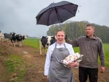 Yvonne maakt 'wasberre-ijs' van melk van eigen Groesbeekse koeien