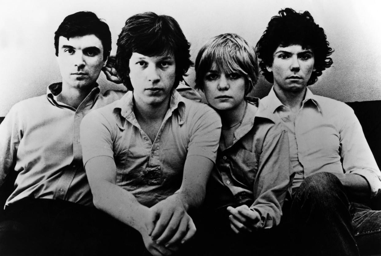 De Talking Heads-bandleden in de jaren 70 (van links naar rechts): David Byrne, Chris Frantz, Tina Weymouth en Jerry Harrison. Beeld Redferns