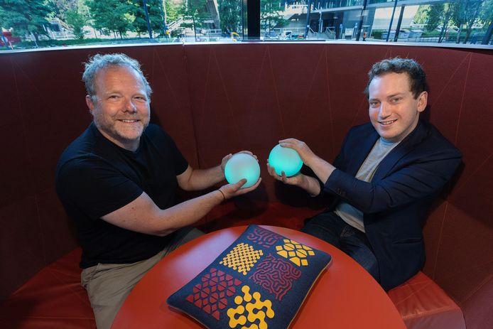 Initiators van het nieuwe expertisecentrum voor dementie; Wijnand IJsselsteijn (l) en Rens Brankaert.