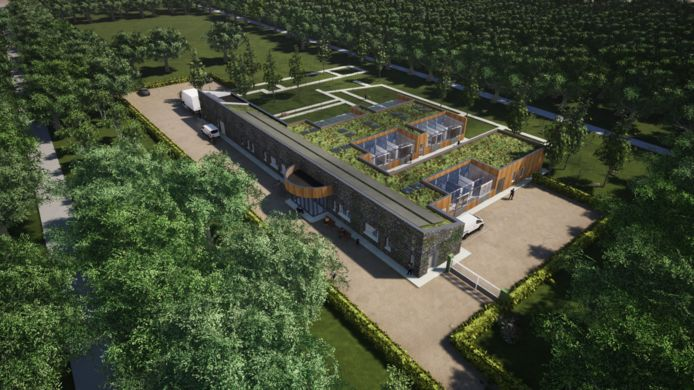 Een impressie van de beoogde nieuwbouw van Dierentehuis De Hof van Ede