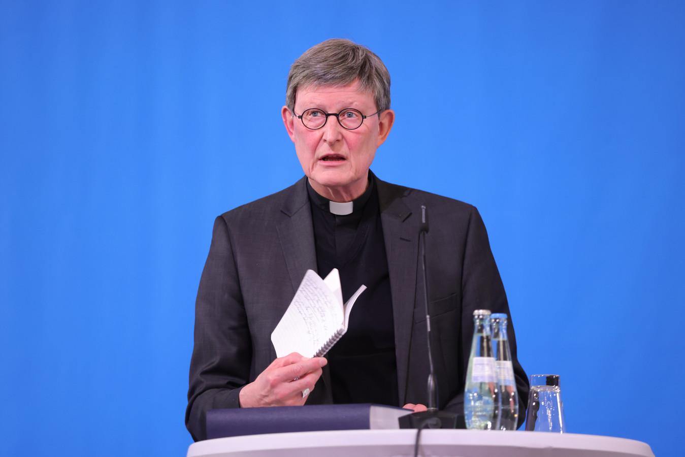 Kardinaal Rainer Maria Woelkina na ontvangst van het misbruikrapport in maart dit jaar.