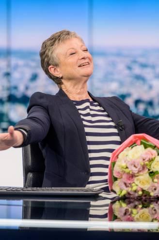 """VRT zet Martine Tanghe in de bloemetjes na allerlaatste nieuwsuitzending: """"Ik zal elke dag naar 'Het Journaal' blijven kijken. Met een glas witte wijn"""""""