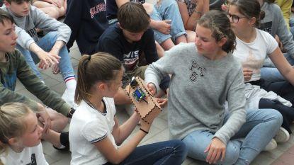 Leerlingen Sint-Franciscus testen hun 'luchtfiltermachine' uit