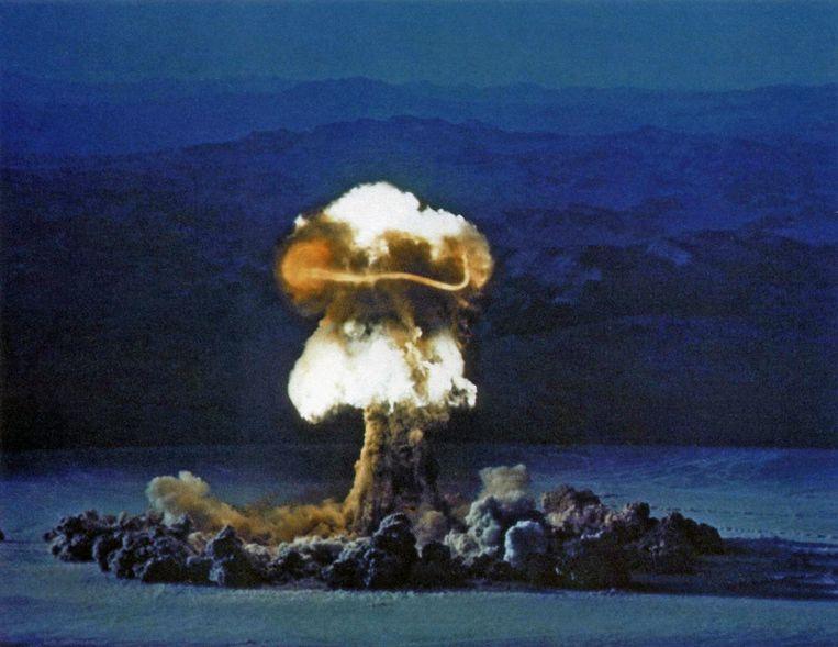 Operatie Plumbbob op 25 juni 1957 in Nevada.  Beeld Getty Images