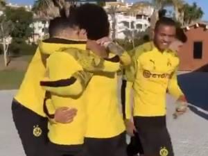 """Chant et """"câlin collectif"""": Dortmund a fêté l'anniversaire de Witsel"""