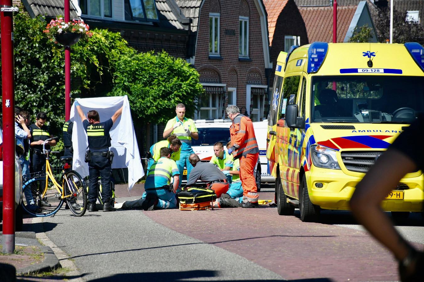 Hulpdiensten in actie op de Herenstraat.
