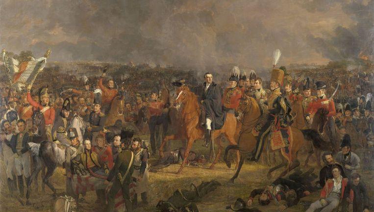 De slag bij Waterloo door J.W. Pieneman. Beeld Collectie Rijksmuseum