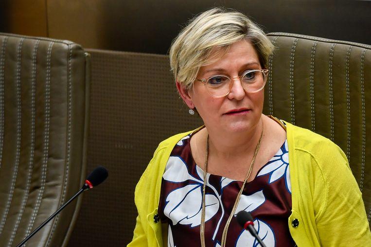 Katia Segers (sp.a), vorig jaar in het Vlaams Parlement. Het Vlaams Parlementslid wil dat Jan Jambon eerst een noodplan opstelt.  Beeld BELGA