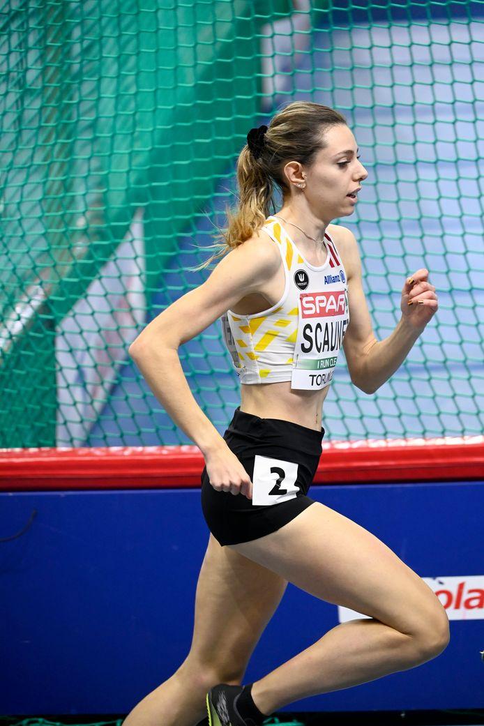 Vanessa Scaunet op het EK indoor