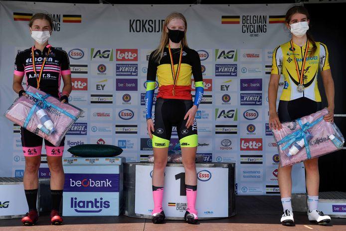 Xaydee Van Sinaey werd voor de vierde keer in vijf jaar - vorig seizoen was er geen BK - Belgisch kampioene tegen de klok.