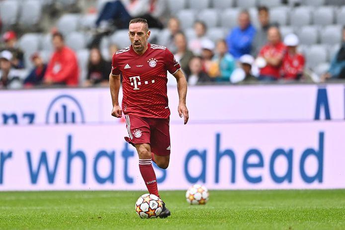 Franck Ribéry tijdens een wedstrijd met Bayern-legendes vorige week.