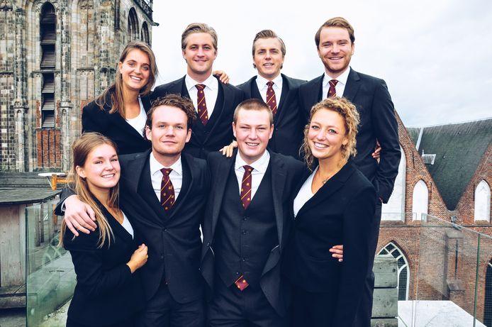 Voorzitter van Vindicat Marc  Mohr  (2e van linksboven) verzuimde het incident te melden