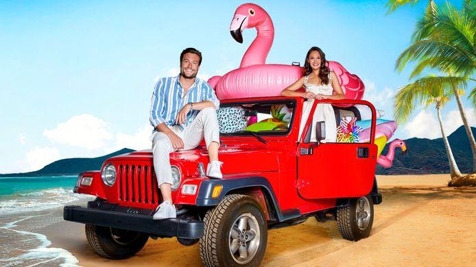 Love Island - Viktor Verhulst en Holly Mae Brood presenteren de Vlaams-Nederlandse versie van de realityreeks
