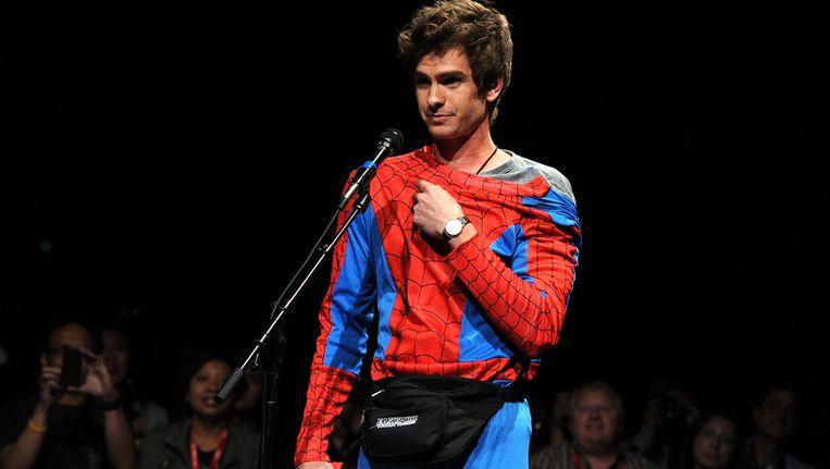Andrew Garfield hijst zich de komende tijd in het pak van Spider-Man. Beeld getty