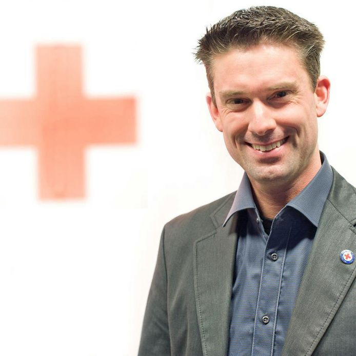 Merlijn Stoffels van het Rode Kruis.