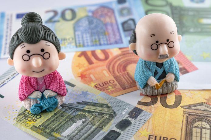 Illustratie: ouderen genieten van hun pensioen.