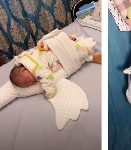 La (très) étrange astuce pour endormir bébé avec un jouet pour chat