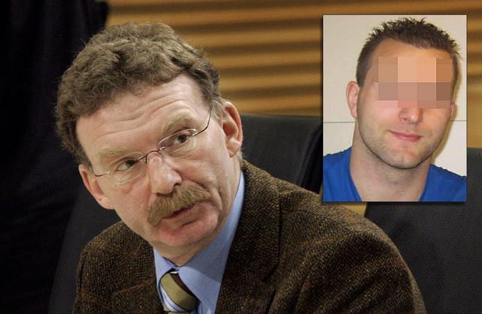 Hoogleraar forensische psychologie Hjalmar van Marle: 'Het is allemaal een afspiegeling van de foute fantasieën  van deze man.' Inzet: Verdachte Michael P.