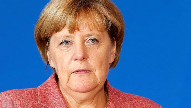 Bondskanselier Merkel moet een bittere nederlaag slikken, de bitterste misschien wel van haar bondskanselierschap. Beeld EPA