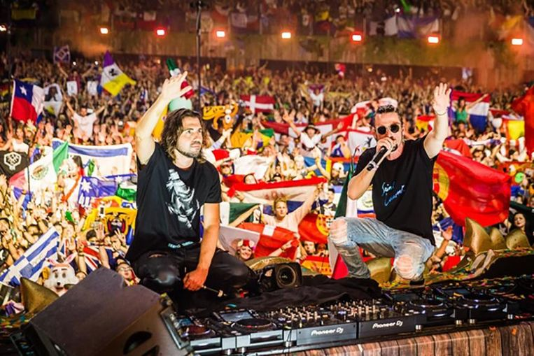 Dimitri Vegas & Like Mike op Tomorrowland.