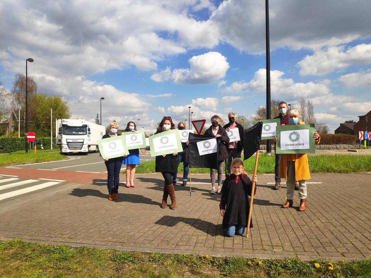 De actiegroep Leefbaar Drongen wil minder zwaar verkeer door de Gentse deelgemeente.