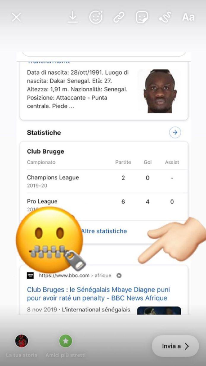 Instagram Mbaye Diagne