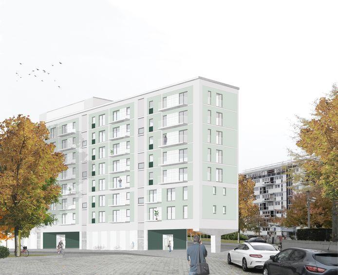 ontwerp gebouw winston Churchillplein