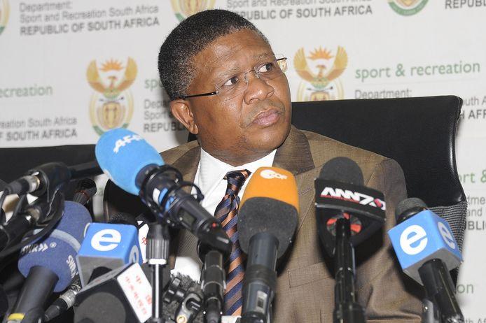 De Zuid-Afrikaanse minister van Verkeer, Fikile Mbalula.