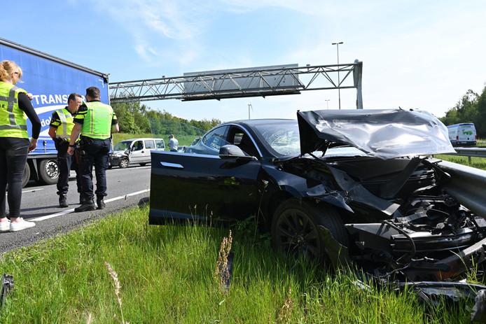 Ongeluk op A16 bij Breda