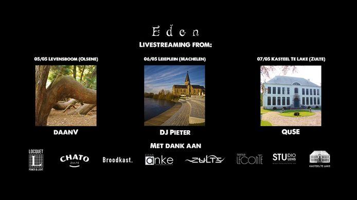 De Zultse dj's DaanV, DJ Pieter en QuSE spelen een set vanop enkele mooie locaties in Zulte.