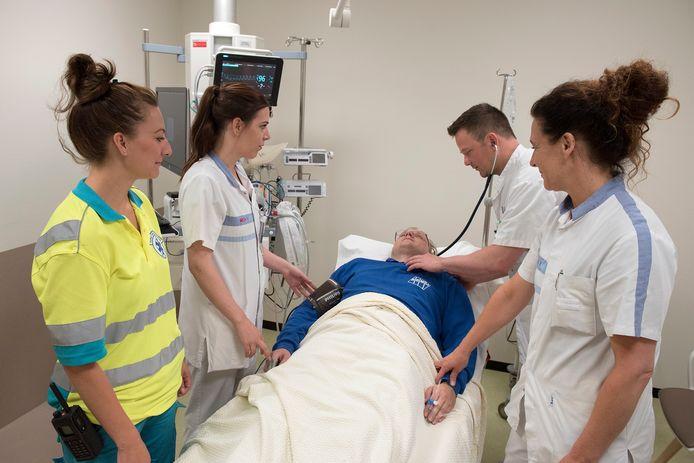 Team SEH HMC Westeinde bij patiënt Den Haag