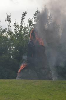 Brand in Drontens kunstwerk
